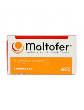 MALTOFER MASTICABLE 100MG X30COM | AraucoMed Farmacia Online