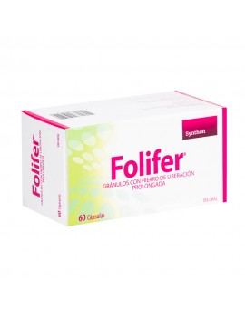 FOLIFER CAPSULAS DE LIBERACION PROLONGADA X60 | AraucoMed
