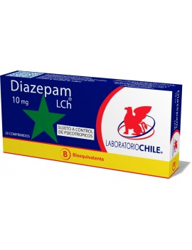 DIAZEPAM 10MG X20 (CHILE) | AraucoMed Farmacia Online