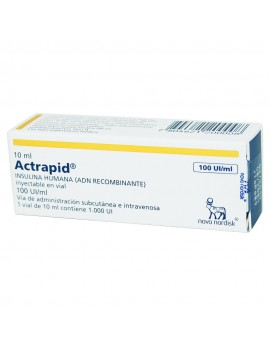 ACTRAPID HM 100UI/ml 10ml X1F-A (CENABAST) | AraucoMed Farmacia