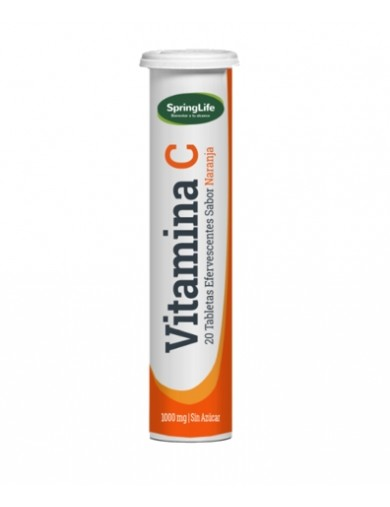 VITAMINA C EFERVESCENTE 1000MG X20 (SPRING LIFE) | AraucoMed