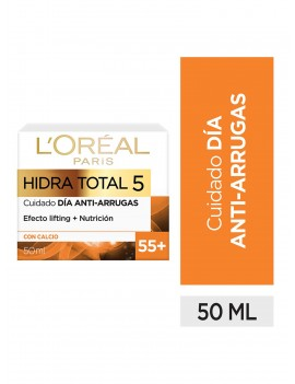 LOREAL CREMA HIDRA TOTAL 5 ANTIARRUGAS +55 50ML | AraucoMed