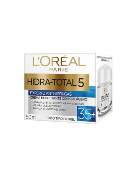 LOREAL CREMA HIDRA TOTAL 5 ANTIARRUGAS +35 50ML | AraucoMed