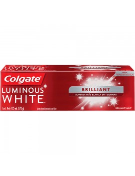 COLGATE LUMINOUS WHITE BRILLIANT PASTA DENTAL 172g | AraucoMed