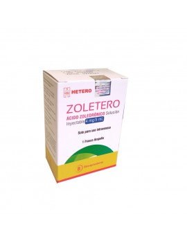 ZOLETERO SOLUCIÓN INYECTABLE 4mg/5mL X1 (CENABAST) | AraucoMed