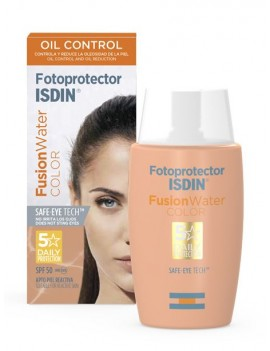 ISDIN FOTOPROTECTOR FUSION WATER OIL CONTROL FPS50+ 50ML CON COLOR