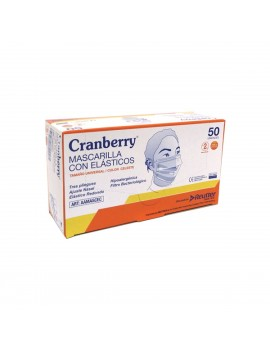 MASCARILLA PROC. C/ELAST. AZUL CRANBERRY X50 | AraucoMed